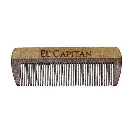 Pente para barba ideal bolso em madeira El Capitán