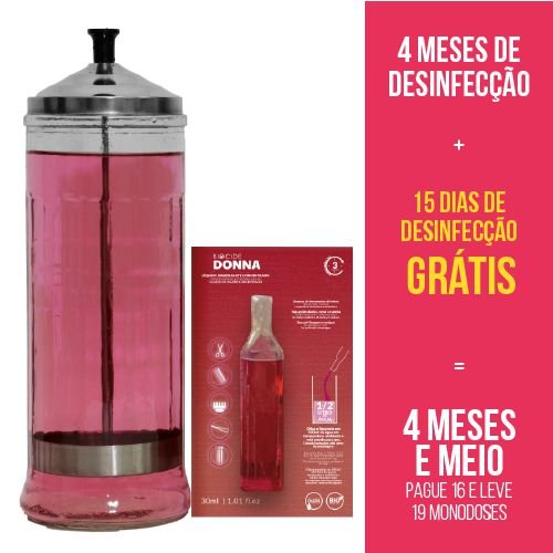 Kit 4 meses + 15 dias   Jarro 1,2 litro + 18 Biocide Donna 30ml