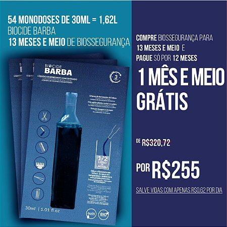 BIOCIDE BARBA 54 MONODOSES DE 30ML = 1,62L | 13 MESES E MEIO
