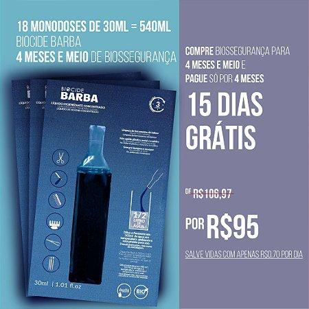 BIOCIDE BARBA 18 MONODOSES DE 30ML = 540ML | 4 MESES E MEIO