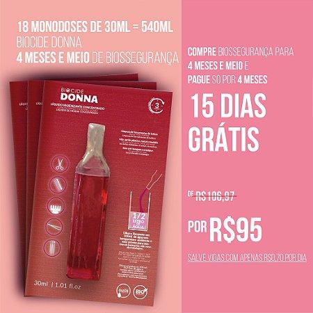 BIOCIDE DONNA 18 MONODOSES DE 30ML = 540ML | 4 MESES E MEIO