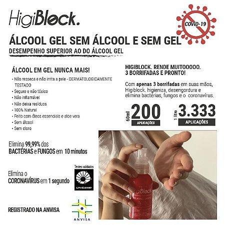 * HIGIBLOCK 60ML BIOCIDE - SUBSTITUI O ÁLCOOL GEL
