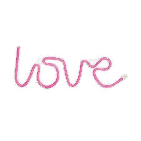 Luminária Silhueta Led Love Rosa c/ 1 unidade
