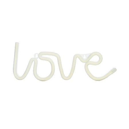 Luminária Silhueta Led Love Branco c/ 1 unidade