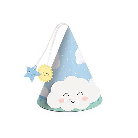 Mini Chapéu Azul Decoração Festa Pedacinho do Céu c/ 8 unid