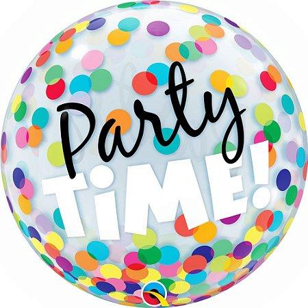 Balão Bubble Party Time 22 Polegadas 56 cm c/ 1 Unidade