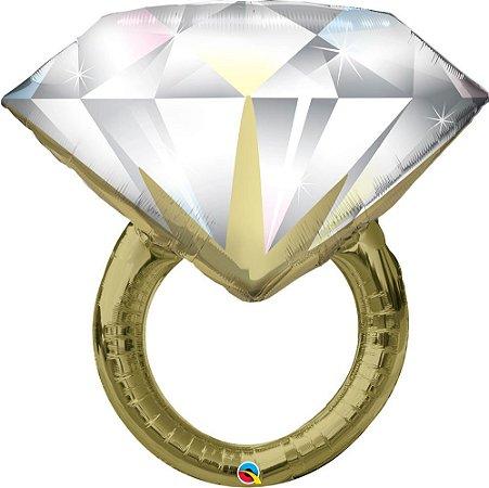 Balão Bexiga Anel de Diamante de Casamento Gigante c/ 1 unid