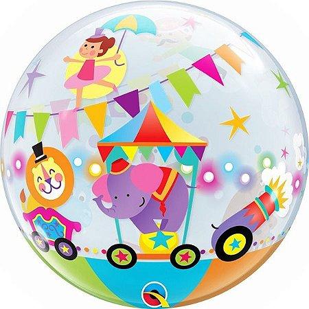 Balão Bubble Circo Transparente 22 Polegadas 56 cm c/1 unida