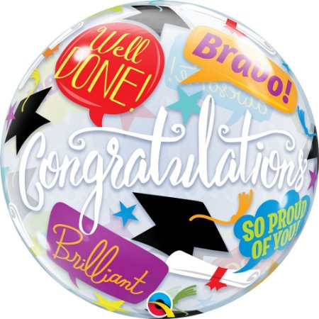 Balão Bexiga Bubble Formatura Graduation  56 cm c/ 1 uni