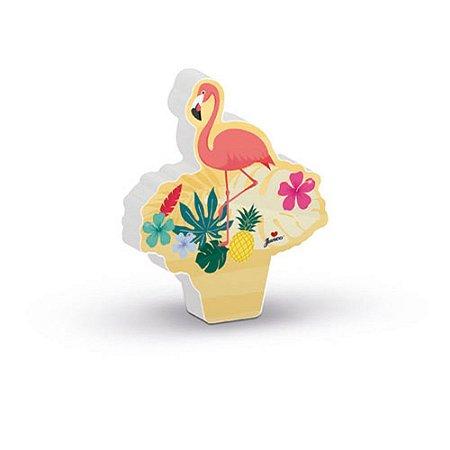 Vela Decoração Festa Tema Flamingo c/ 1