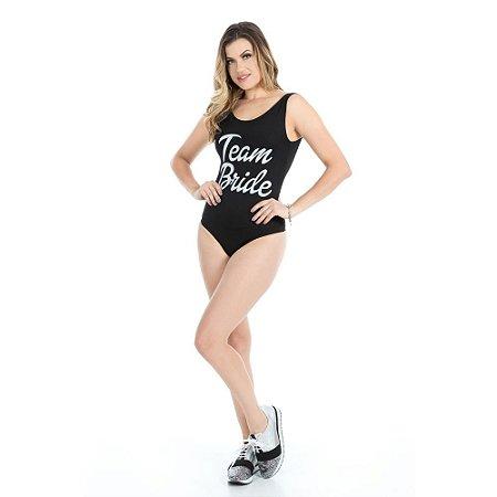 Body Summer Preto Team Bride - Despedida de Solteira