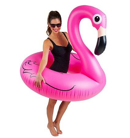 Boia Inflável Flamingo Gigante Rosa Circular 120cm Premium