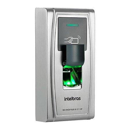 Controle De Acesso Automatiza Intelbras Bio Inox Plus Ss 311 Mf