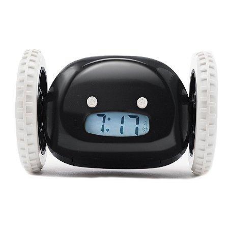 Despertador Relógio Fugitivo - Preto