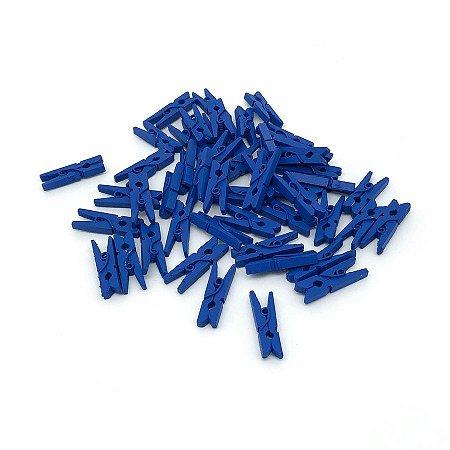 Mini Prendedor Madeira 2,5cm - 100 Unidades - Azul