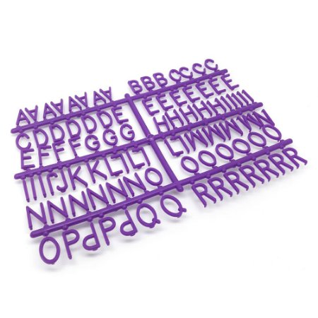 184 Letras e Números para Mural Letreiro Letter Board - Roxo