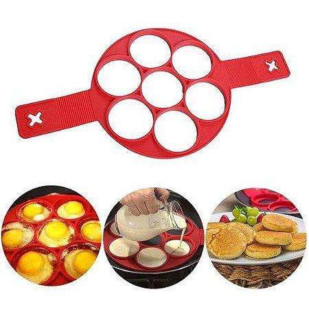 Forma de Silicone Antiaderente para Panqueca, Ovos e Omelete