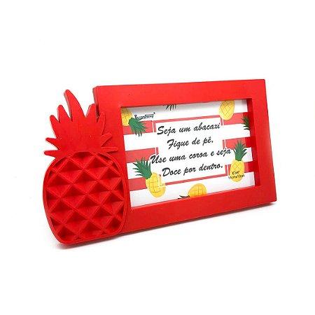 Porta-Retrato Abacaxi - Vermelho
