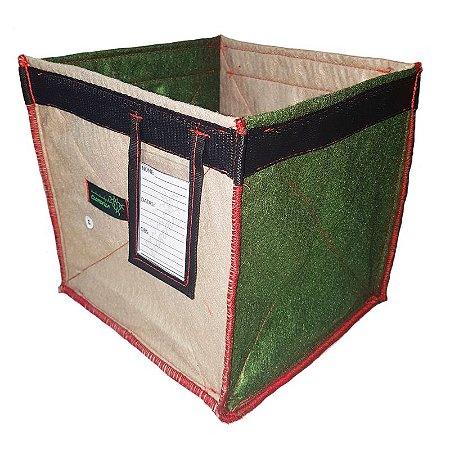 Vaso de Feltro - 12 Litros HEMP com Porta Etiqueta