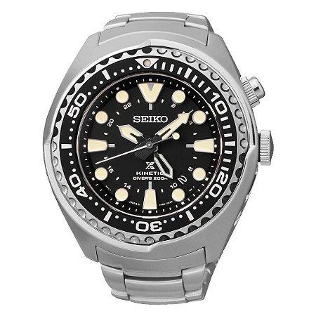 Relogio Seiko Prospex  Kinetic Gmt Divers Sun019b1