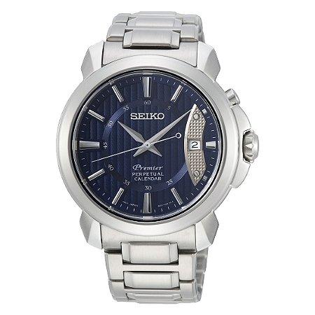 Relógio Seiko Premier Quartz snq157b1 Safira