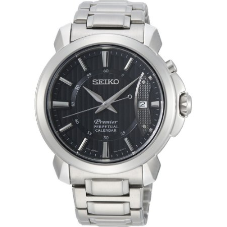 Relógio Seiko Premier Quartz snq159b1 Safira