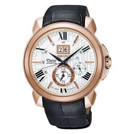 Relógio Seiko Premier Kinetic AutoRelay Perpetual  snp150p1