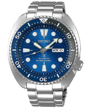 Relogio Seiko Prospex Turtle Save the Ocean Great White Shark Srpd21b1 Automático Edição Especial