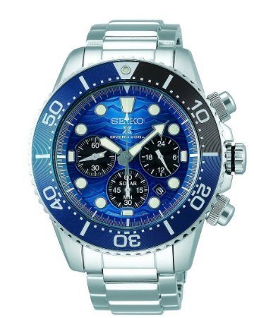 Relogio Seiko Prospex Ssc741 Save the Ocean Great White Shark Solar