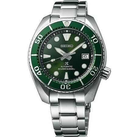 Relógio Seiko Prospex Sumo Green Safira Spb103j1 Made in Japan