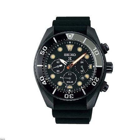 Relógio Seiko Prospex Sumo Black Series Solar Safira Ssc761j1 Made in Japan