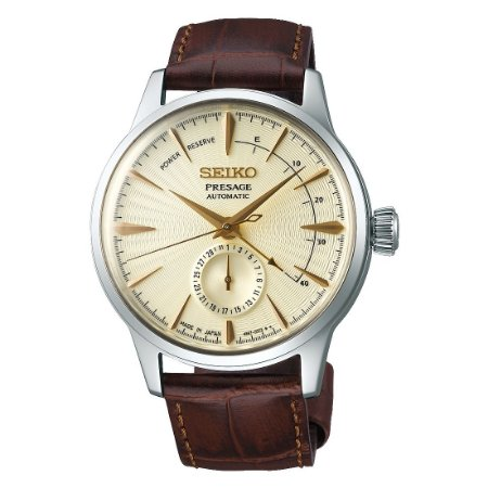 Relógio Seiko Presage Coquetel Black Golden Champagne Automático SSA387J1 Made in Japan