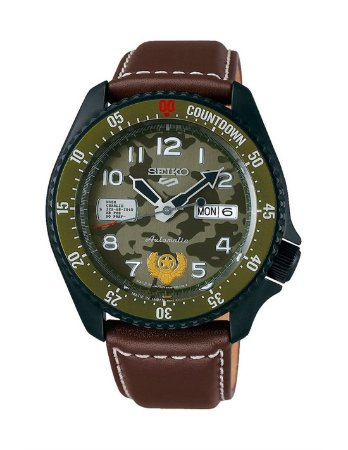 Relogio New Seiko 5 Sports Automático Street Fighter Guile Edition Limited srpf21k1