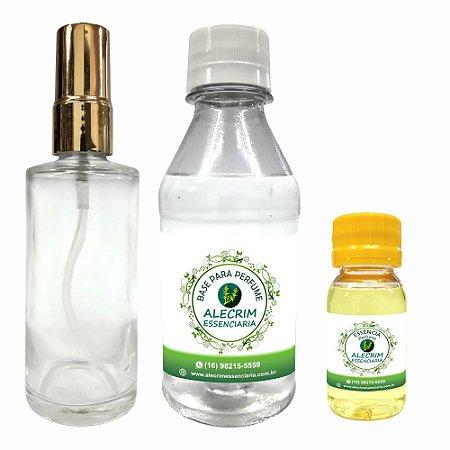 Kit Para Fabricação de Perfume + Frasco de Vidro Valvula Spray