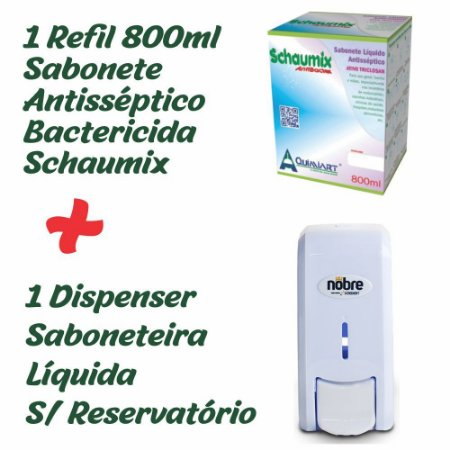 Kit Saboneteira Líquida e Sabonete Refil 800ml