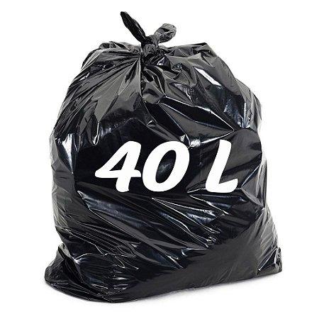 Saco De Lixo 40lt Preto