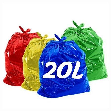 Saco de Lixo 20lt Colorido
