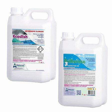Kit Detergente Para Máquinas De Lavar Louça Ecodish + Secante Para Máquinas Brilhorinse
