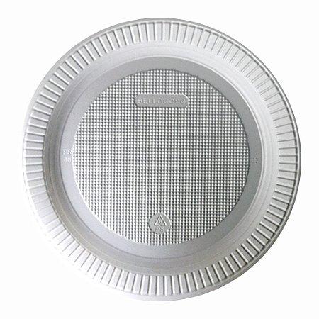 Prato Descartável Plástico 18cm p/ Refeição Bello Copo 100un