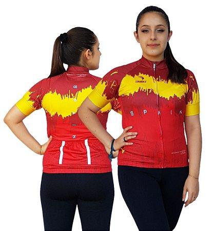 Camisa Ciclismo Sódbike Feminina Nações - Espanha