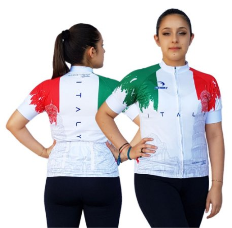 Camisa Ciclismo Sódbike Feminina Nações - Itália Branca