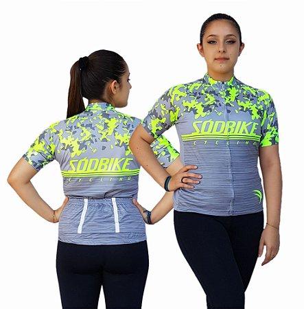 Camisa Ciclismo Feminina SD21 FL01 - Fluor