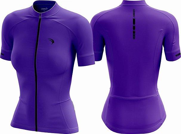 Camisa Cicloturismo Sódbike CLEAN Roxa - Feminina