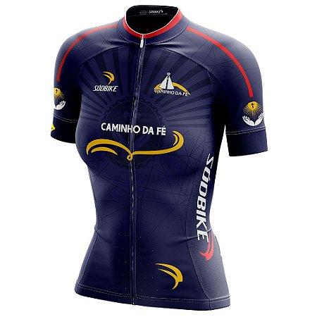 Camisa Ciclismo Caminho da Fé - Azul Marinho Feminina
