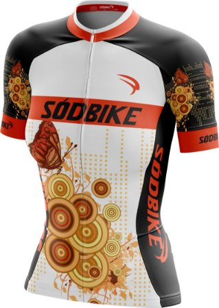 Camisa Ciclismo Butterfly Laranja