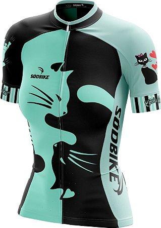 Camisa Ciclismo Love Cat's Verde