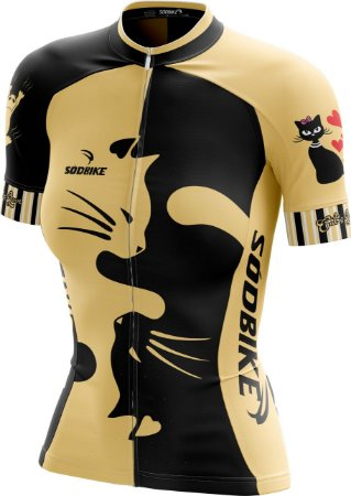 Camisa Ciclismo Love Cat's Amarelo