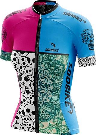 Camisa Ciclismo Skull