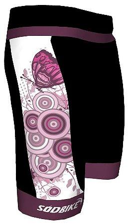 Bermuda Feminina Butterfly Roxa