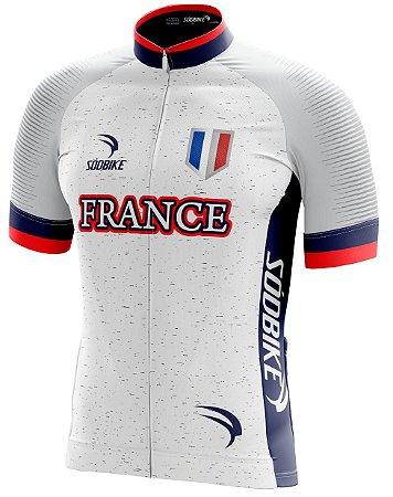 Camisa Ciclismo França Copa